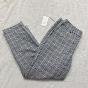 Target Plaid Trousers Gray and Light Pink